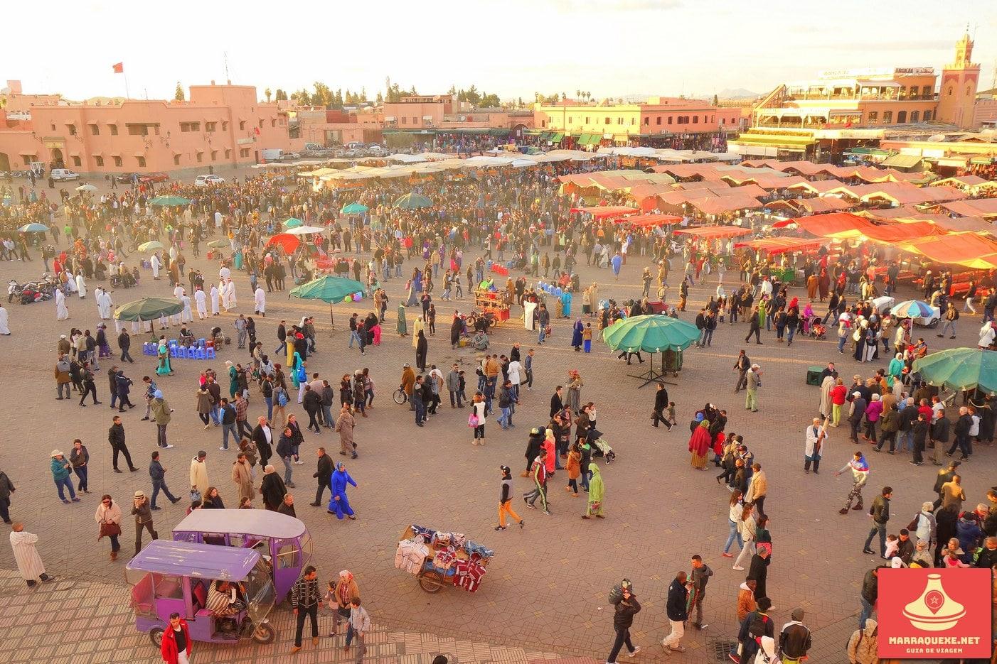 Praça Jemaa el-Fna em Marraquexe