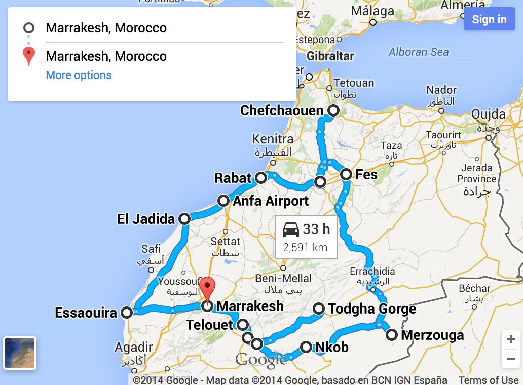 Tour 12 dias em Marrocos