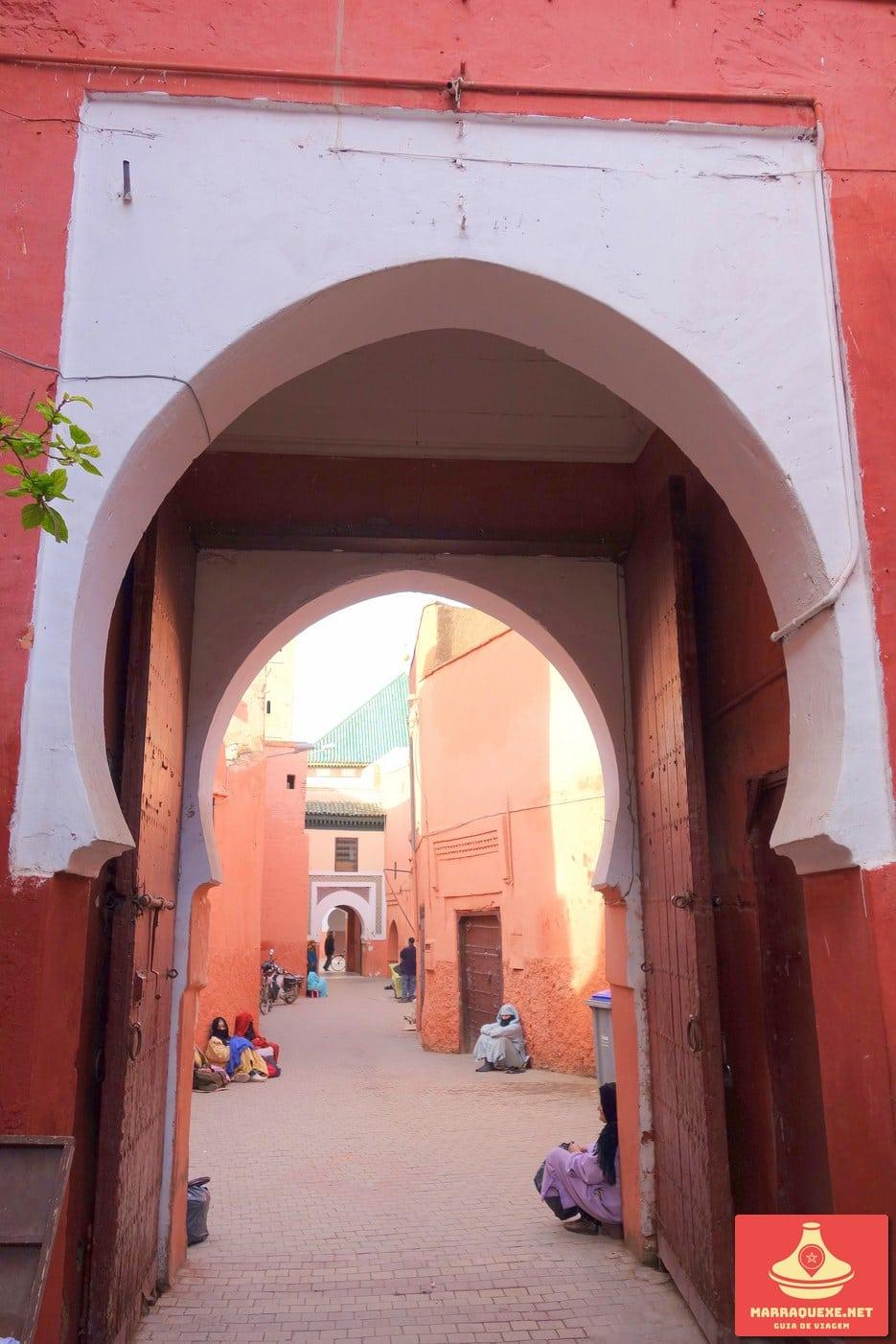 Entrada da Zaouia de Sidi Bel Abbès em Marraquexe
