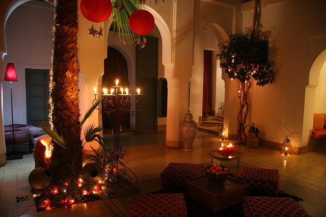 Photo of courtyard patio of Riad Dar Malak in Marrakech