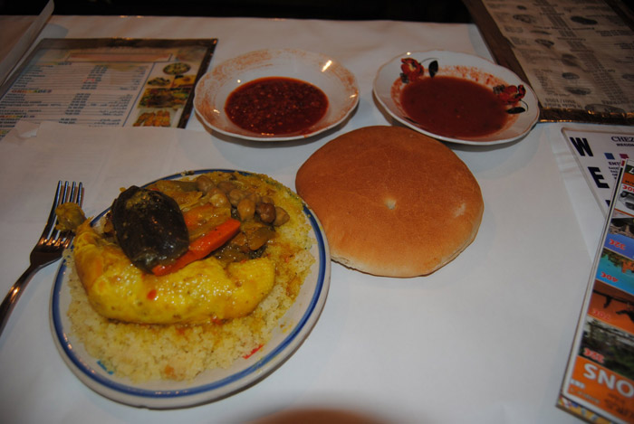 Photo of full meal at Marrakech Jemaa el-Fnaa main square