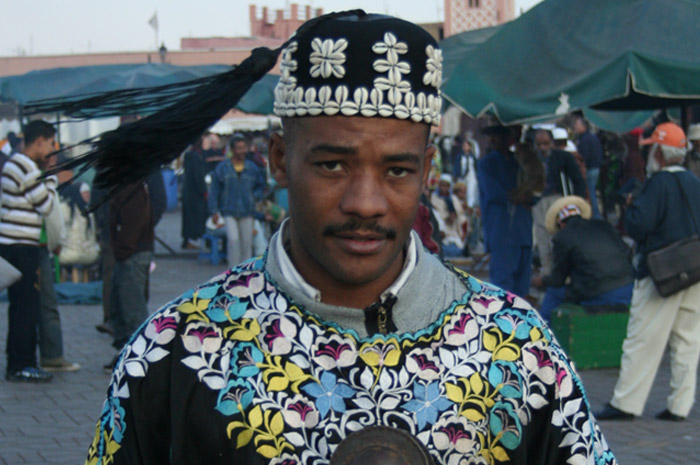 Photo of a Gnawa Musician in Marrakech