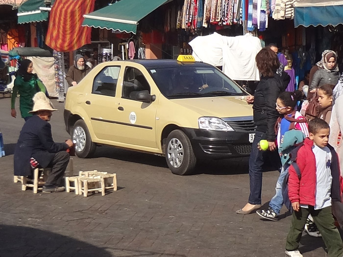 Petit taxi in Marrakech