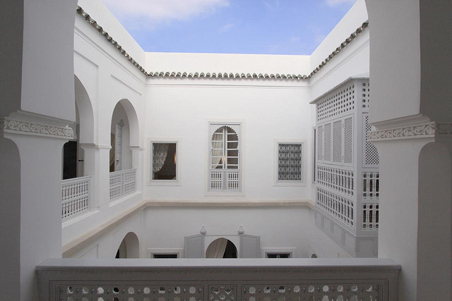 Photo of courtyard patio of Riad Chi Chi in Marrakech