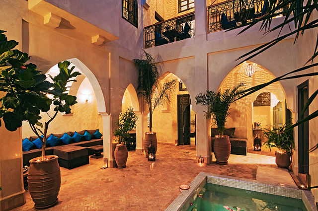 Photo of courtyard patio of Riad Cinnamon in Marrakech