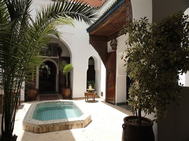 Photo of courtyard patio of Riad Nora in Marrakech