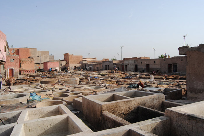 Photo of the Marrakech tanneries at Bab Debagh