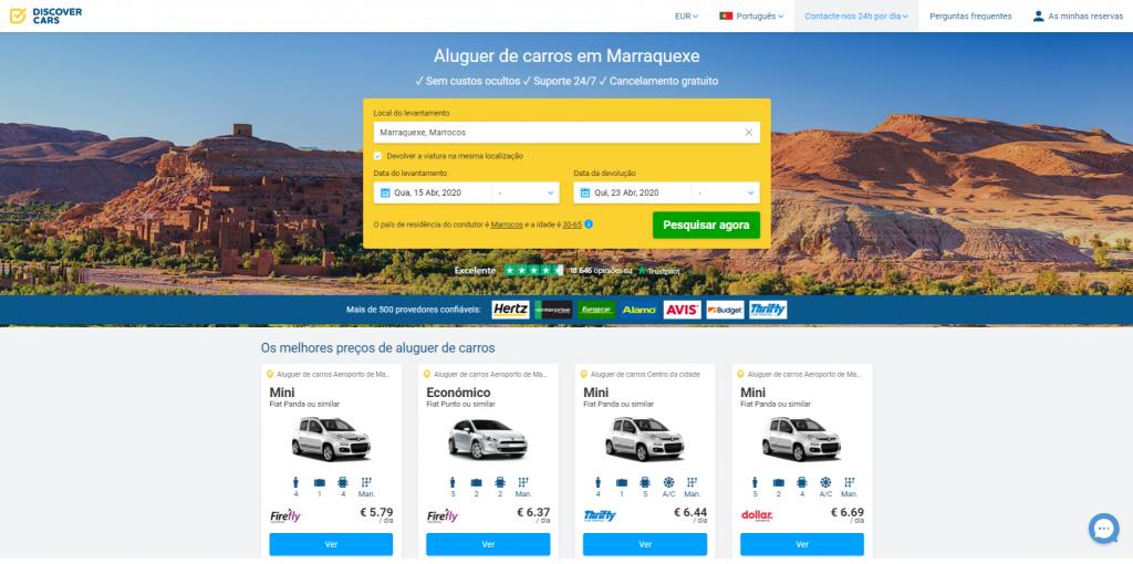 Alugar carro em Marrakech