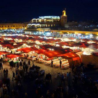 Jemaa el-Fna em Marraquexe