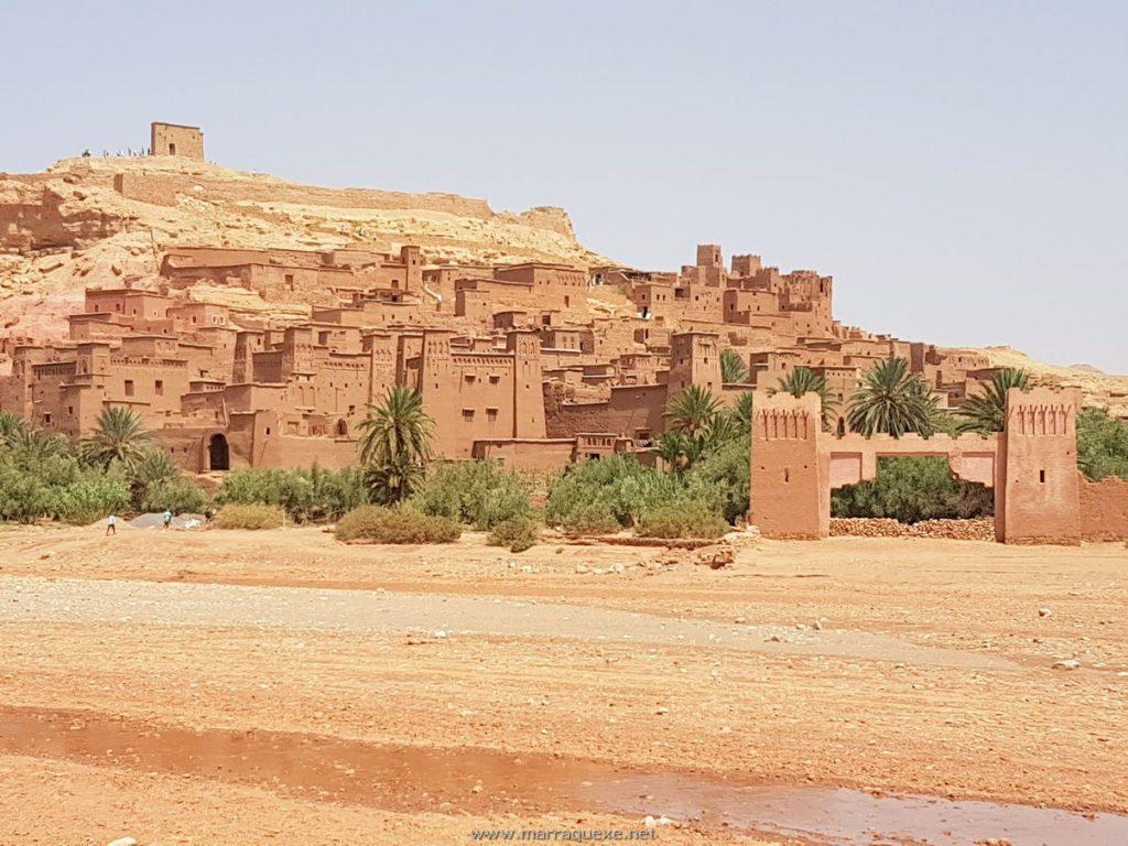 Vista do Ksar Ait Benhaddou em Ouarzazate