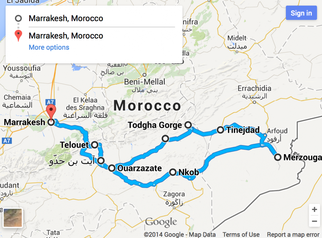 Tour Descida ao Deserto de Marrocos, 5 dias