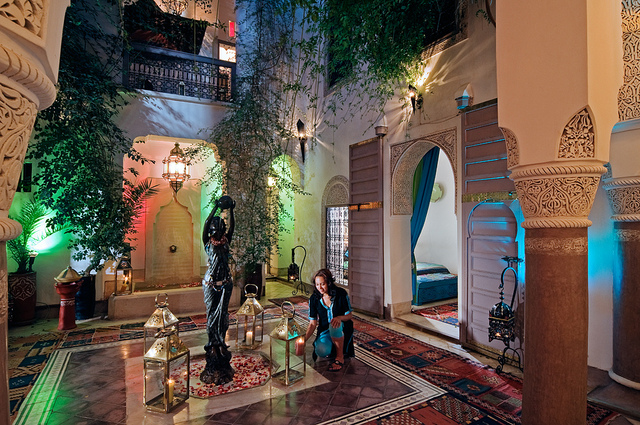 Photo of courtyard patio of Riad Dar Eliane in Marrakech