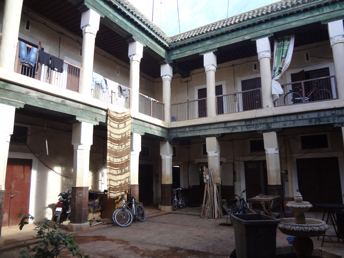Photo of inside a Marrakech foundouq in Marrakech old medina