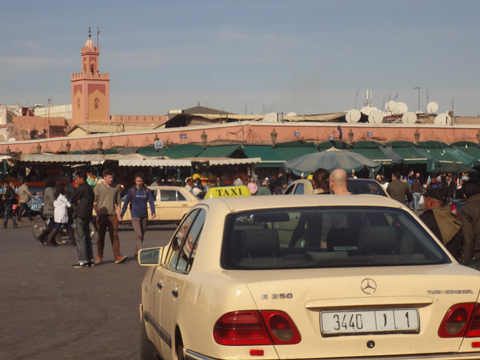 Grand taxi in Marrakech