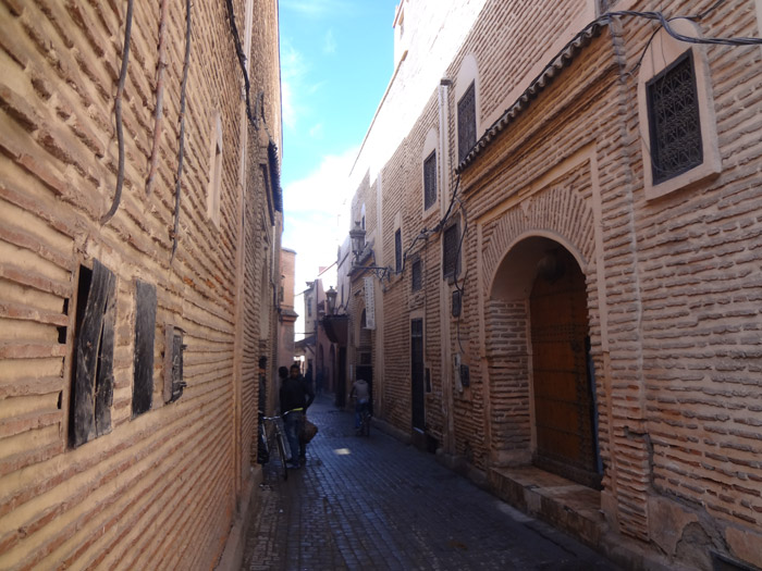 Photo of Souk Ahl Fes street in Rahba Kdima district in Marrakech old medina