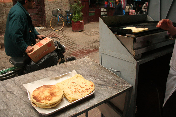 Photo of Msemen Moroccan pancake in Marrakech