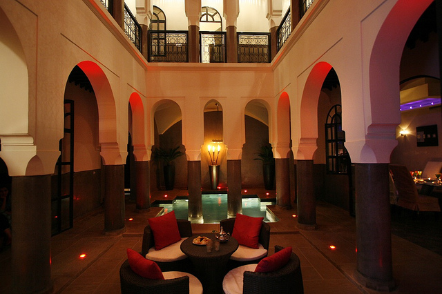 Photo of courtyard patio of Riad Carllian in Marrakech