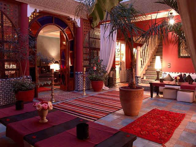 Photo of courtyard patio of Riad Eden in Marrakech