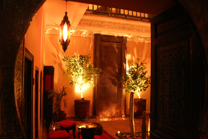 Photo of central patio of Riad Paula in Marrakech