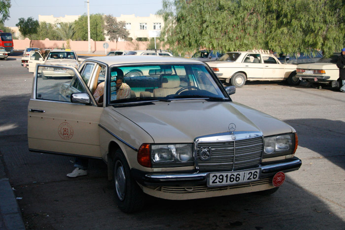 Photo of Grand Taxi Mercedes on the Taxi park in Ouarzazate