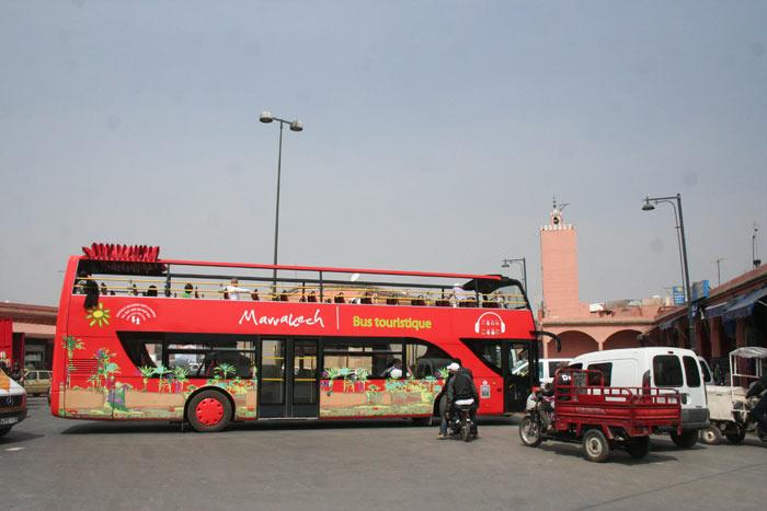 Photo of CIty Sightseeing Bus in Marrakech near Bab Mellah